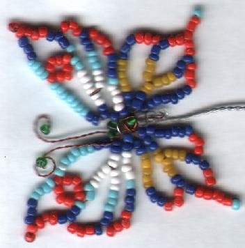 бабочки из бисера схемы плетения для начинающих.